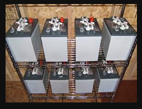 Group of batteries that create an off-grid system